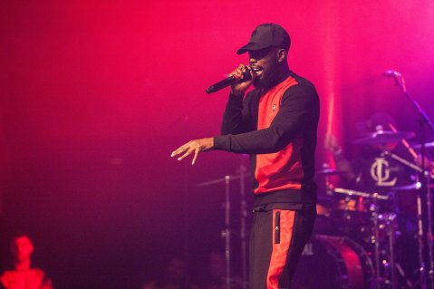 Ghetts live at In the Round, at the Roundhouse, Camden, Chalk Farm, London, United Kingdom. 30 January 2017.